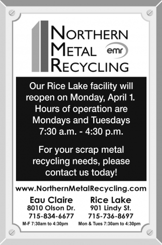 For your scrap metal recycling needs, please contact us today!