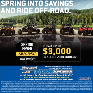 Spring Fever Sales Event