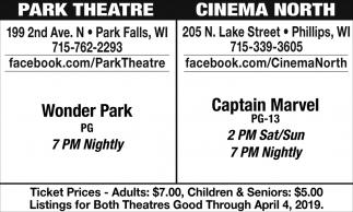 Wonder Park / Captain Marvel