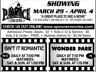 Showing March 29 - April 4