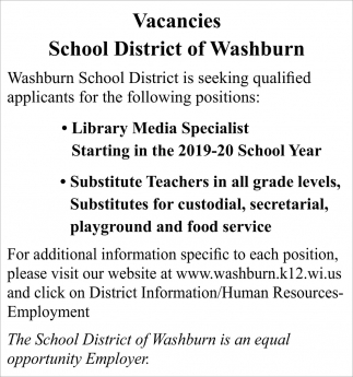 Library Media Specialist, Substitute Teachers