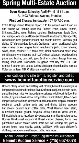 Spring Multi-Estate Auction