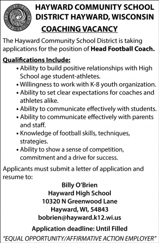 Head Football Coach