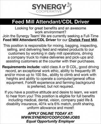 Feed Mill Attendant / CDL Driver