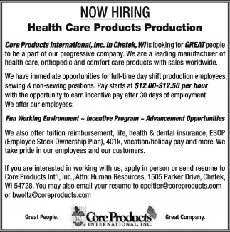 Health Care Products Production