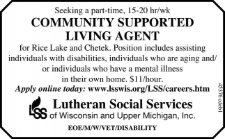 COMMUNITY SUPPORTED LIVING AGENT