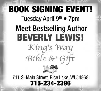 Book Signing Event!