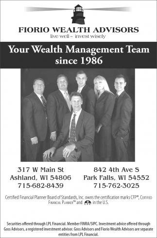 Your Wealth Management Team