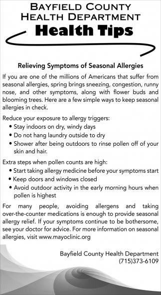 Relieving Symptoms of Seasonal Allergies