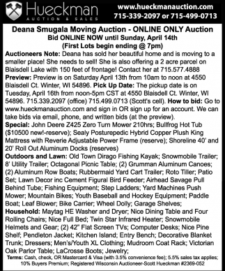 Deana Smugala Moving Auction