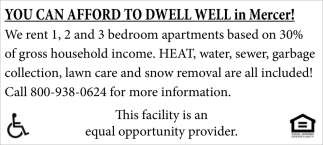 You can afford to dwell well in Mercer!