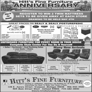 Hitt's Fine Furniture Anniversary