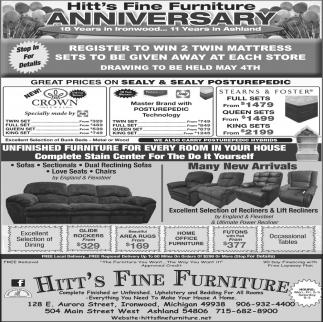 Hitt's Fine Furniture Anniversary