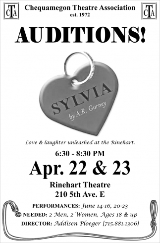 AUDITIONS! Sylvia by A.R. Gurney