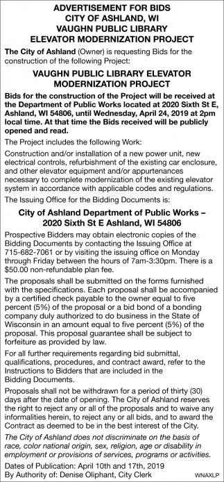 Vaughn Public Library Elevator Modernization Project