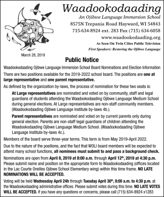 Board Nominations and Election Information