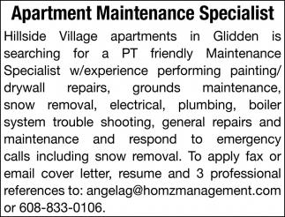 Apartment Maintenance Specialist