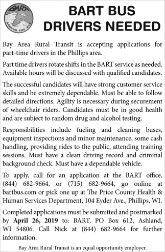 Bart Drivers Needed