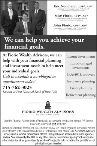We can help yoy achieve your financial goals