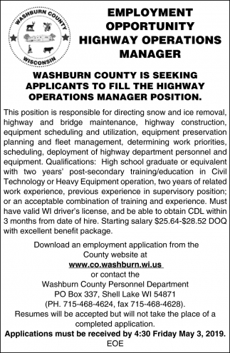 Highway Operations Manager