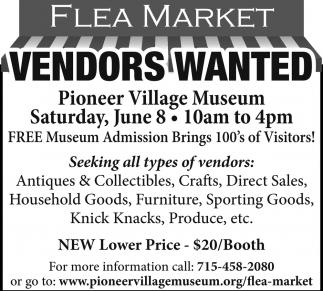 Flea Market Vendors Wanted