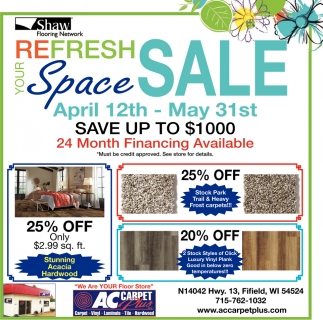 ReFresh Space Sale