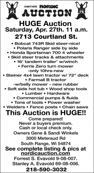 Huge Auction