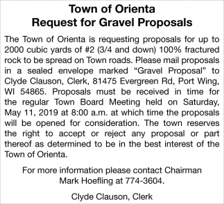 Request for Gravel Proposals