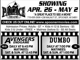 Showing April 26 - May 2