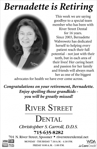 Bernadette is Retiring