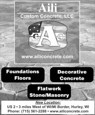 Foundations Floors, Decorative Concrete, Flatwork Stone, Masonry