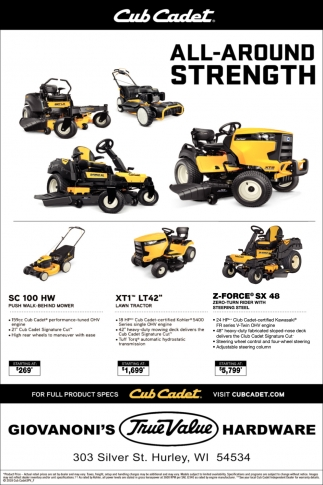 Cub Cadet All-Around Strength