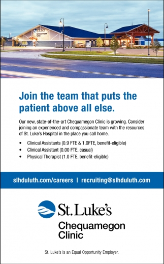 Join the team that puts the patient above all else
