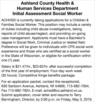 Children & Families Social Worker