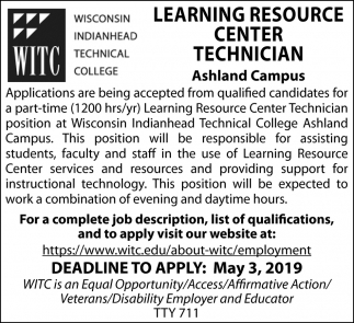 Learning Resource Center Technician