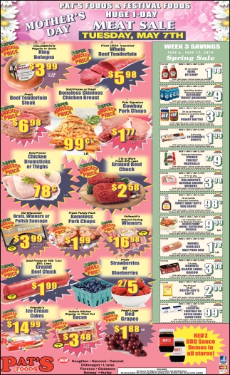 Mother's Day Meat Sale