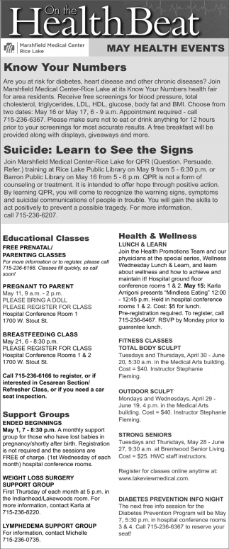 May Health Events