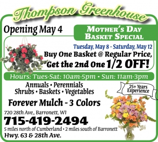 Mother's Day Basket Special