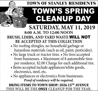 Town's Spring Cleanup day