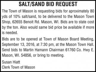 SALT/SAND BID REQUEST