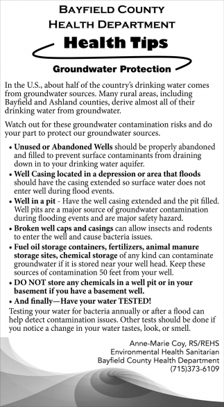 Groundwater Protection