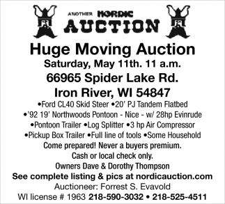 Huge Moving Auction