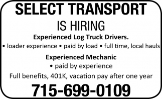 Experienced Log Truck Drivers