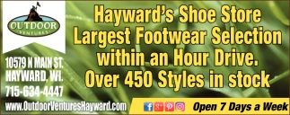 Largest Footwear Selection