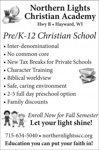 Pre/K-12 Christian School