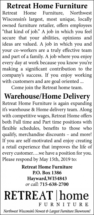 Warehouse/Home Delivery