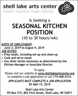 Seasonal Kitchen Position