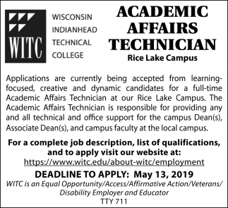 Academic Affairs Technician