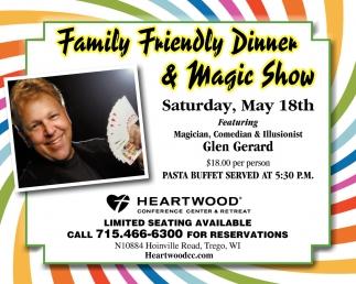 Family Friendly Dinner & Magic Show