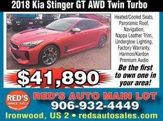 2018 Kia Stinger GT AWD Twin Turbo